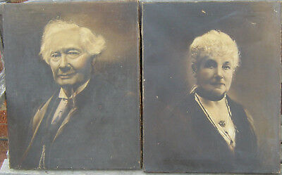 GOOD QUALITY PAIR OF PORTRAIT OIL PAINTINGS, Edwardian Early 20th century