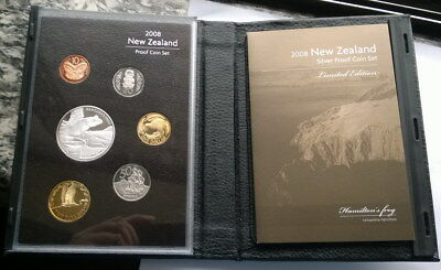 New Zealand 2008 Hamilton Frog Mint Box Set of 7 Coins,With Silver Coin!