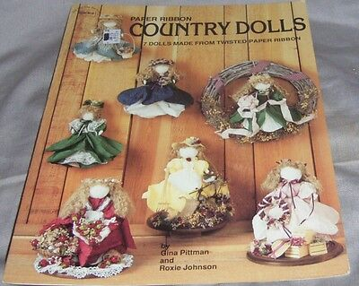 """'paper Ribbon Country Dolls"""" Papper Ribbon Craft, Patern Booklet  (#m-116)"""