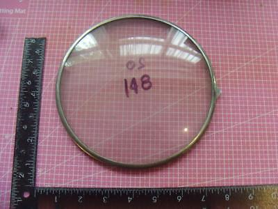 OS#148 1930'S Mantle Clock  Bezel & Convex Glass max outer dia 179mm