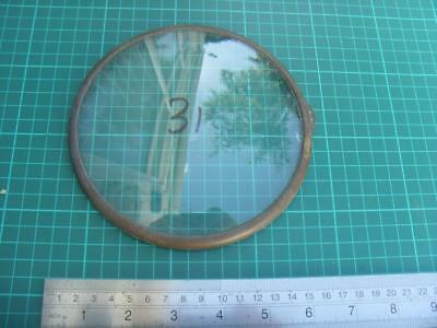 OS#31 1930'S Mantle Clock Part Bezel & Convex Glass max outer dia 155mm