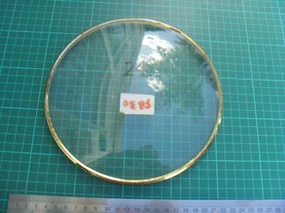 OS#24 1930'S Mantle Clock Part Bezel & Convex Glass max outer dia 199mm