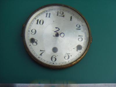 OS#30 1930'S Mantle Clock Part Bezel & Convex Glass max outer dia 154mm