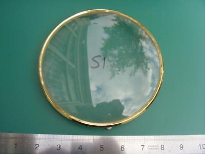 OS#51 1930'S Mantle Clock Part Bezel & Convex Glass max outer dia 159mm