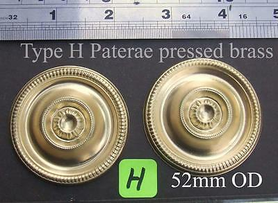 ref 14/1 Pair Pressed brass long case clock paterae type H