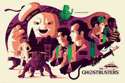 Sdcc 2018 Mondo Ghostbusters Print!! Glows In The Dark!! Nm+ And Awesome!!
