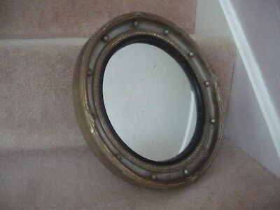 Vintage Convex Mirror With Ornate Frame And Wood Back A Superb Mirror