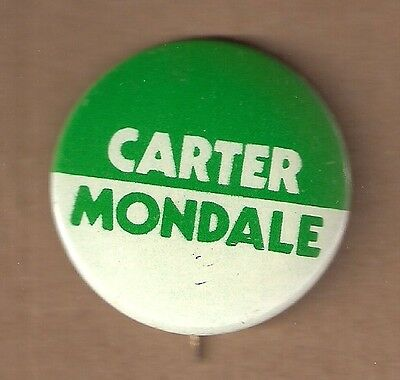 Carter Mondale Presidential Campaign Pin Back Button  1 3/8""