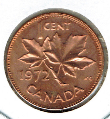1972 Canadian Uncirculated One Cent Elizabeth II Coin!