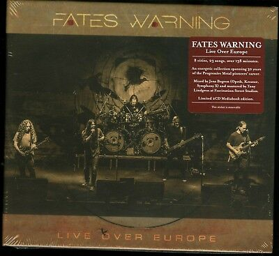 Fates Warning Live Over Europe German press digibook 2 CD new