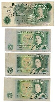 GREAT BRITAIN banknote 1 POUND 1967., 1978., 1981.