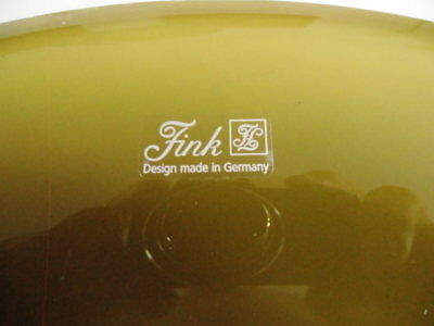 GLASSCHALE FINK DESIGN made in Germany - EUR 1,00 | PicClick DE