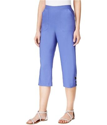 Alfred Dunner Womens Cyprus Casual Chino Pants, Purple, 10