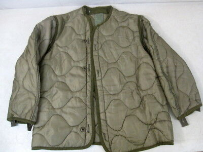post-Vietnam US Army Cold Weather M65 Combat Field Jacket Liner - Sz Small #1