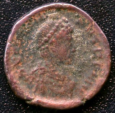 "Ancient Roman Coin "" Arcadius "" 383 - 408 A.D. REF# S4135 13 mm Diameter"