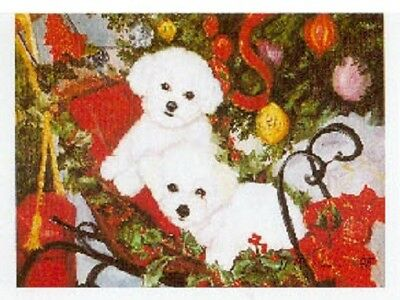 Eight Card Pack BICHON FRISE Dog Breed Christmas Cards