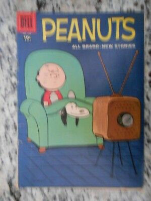 Four Color Comics # 878 Peanuts # 1 Charlie Brown 1958 Charles Schultz Dell Vg