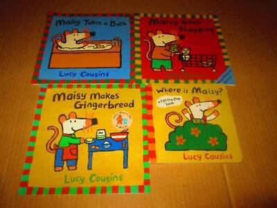 Maisy by Lucy Cousins Book Lot of 4-SC/BB- Where is Maisy?, Gingerbread, Goes Sh