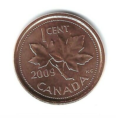 2010 Canadian Brilliant Uncirculated One Cent Elizabeth II Coin!