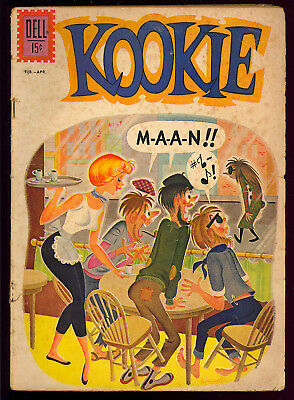 Kookie #1 Hard to Find First Issue John Stanley Dell Comic 1962 GD+