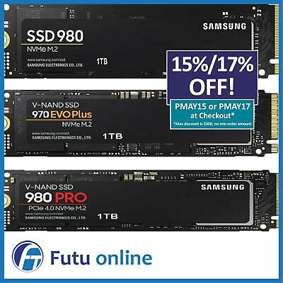 Samsung 960 970 Evo Pro PCIE NVMe M.2 SSD Internal Solid State Drive SSD