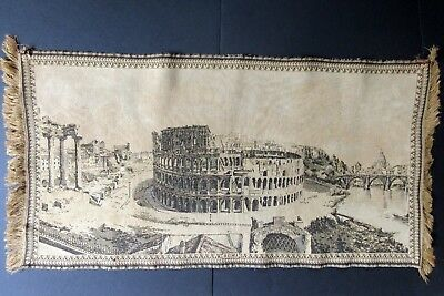 Antique Rome Italy Tapestry ~ Colosseum Vatican St. Peters Roman Forum Temple