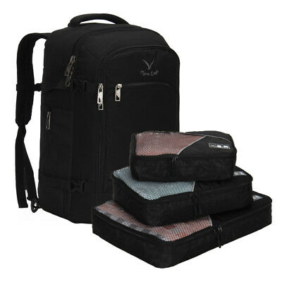 Hynes Eagle Travel Backpack 40L Flight Approved Carry on Backpack w/ Cubes 3pcs