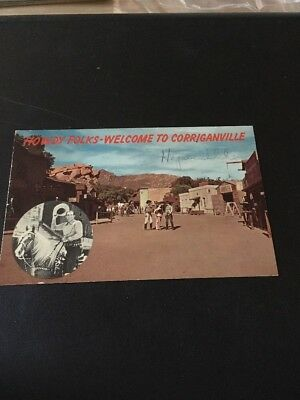 Vtg Postcard: Howdy Folks - Welcome To Corriganville , California