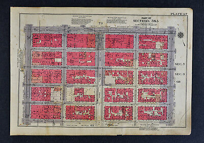 1934 New York City Map - Murray Hill - Daily News  Park 1st-5th Ave 37th-42nd St
