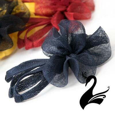 Sinamay Floral Bow Fascinator Style 8005 - Millinery Hats Fascinators