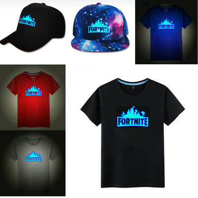 Growing In The Dark Fortnite Battle Royale Kids T-shirt Hat Teeshirt Mens Gaming