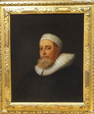 Fine 17th Century Dutch Old Master Portrait Of A Gentleman Antique Oil Painting