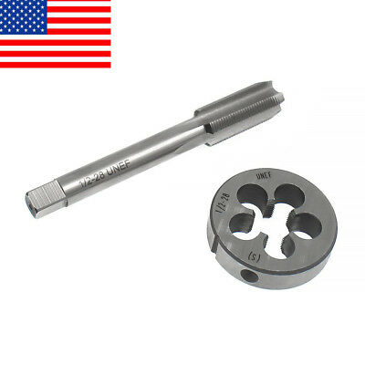 """USA 1/2""""-28 Gunsmithing Tap and Die Set(1/2"""" x 28) 223 5.56 9mm Muzzle Works 22L"""
