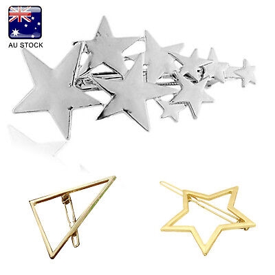 Women Girls Fashion Hairpins Hollow Triangle Hair Clip Barrette Hair Accessories