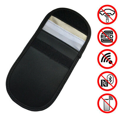 2X Car Key Signal Blocker Case Faraday Cage Fob Pouch Keyless RFID Blocking Bag