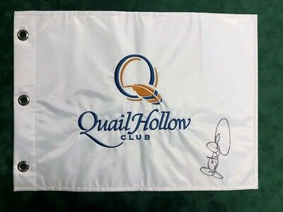 Rory McILROY SIGNED AUTOGRAPH AFTAL COA RARE Quail Hollow Golf Flag Winner