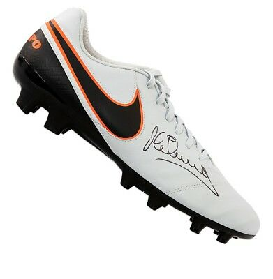 Michael Owen Signed Football Boot - Nike Tiempo Autograph Cleat