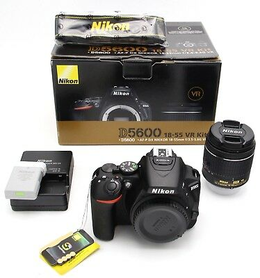 Nikon D5600 Digital SLR Camera + AF-P DX Nikkor 18-55mm f/3.5-5.6G VR Lens Black