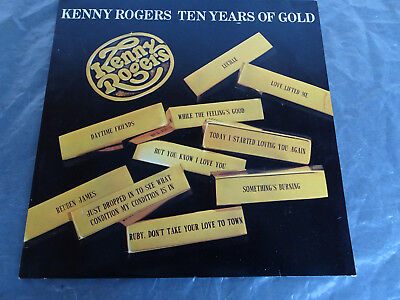"""Kenny Rogers -Ten Years of Gold- LP 12"""" 1978"""