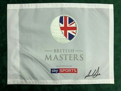 Paul DUNNE SIGNED Winner British Masters Golf Flag Autograph AFTAL COA