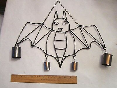 Halloween Bat Wind Chimes Unique Decoration Holiday Party Decor Metal FREE SHIP