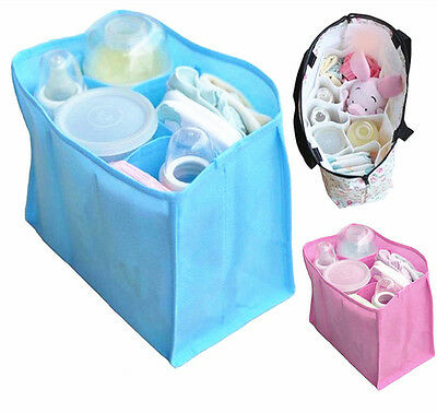 Baby Organizer Bag Portable Diaper Nappy Bottle Changing Divider Storage Pouch