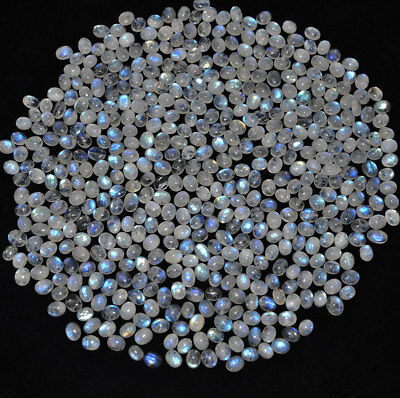 1800 Cts/497 Pcs Exclusive Quality White Rainbow Natural Moonstone Wholesale Lot