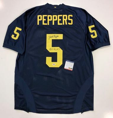 ae155d033 Jabrill Peppers Signed Michigan Wolverines Adidas Authentic Jersey 50 Psa  Coa
