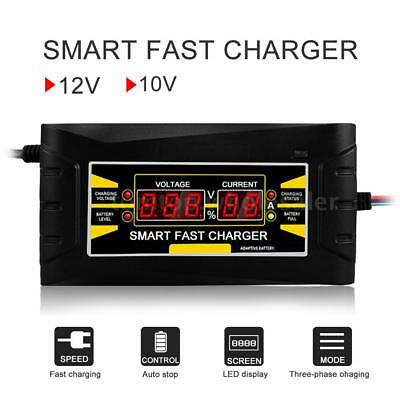 110V/220V To 12V 10A 6AFull Automatic Car Battery Charger Smart Fast Power Y3H5