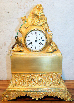 Antique Empire Clock French Gilt Ormolu Bronze*Vincenti & Cie 1820s *