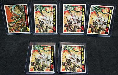 Mars Attacks 6pc Trading Card LOT - Topps / Bubbles Inc. (EX) 1962