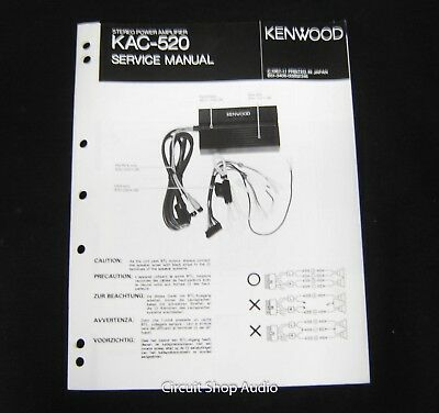 original kenwood kac-520 stereo power amplifier service manual