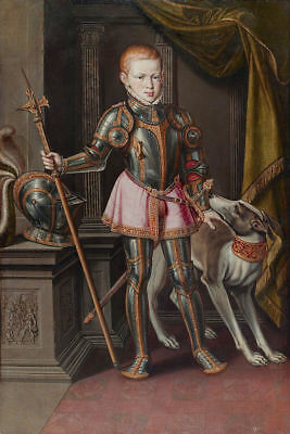 "oil painting handpainted on canvas""King Sebastian of Portugal, 1562.  ""@8933"