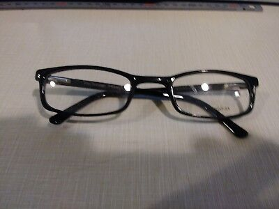 45348449c3 Rochester R-5A Cellulose Acetate Black Frames Size 54   26   145Mm  Eyeglasses Md